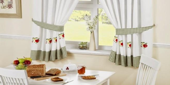 Decoracion cortinas cocina con bordados hoy lowcost - Decoracion cortinas para cocina ...