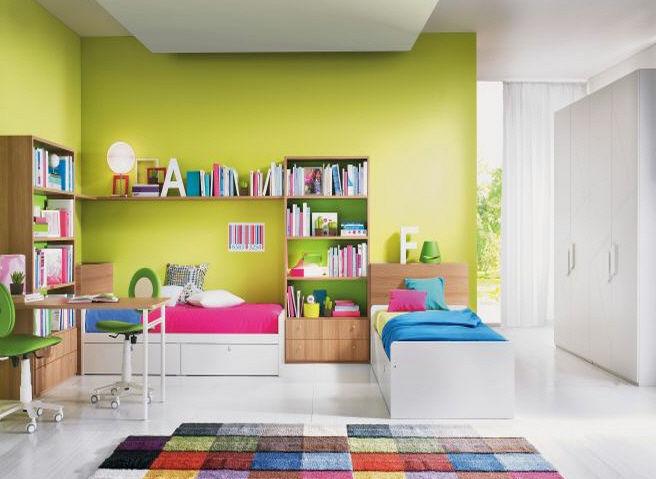 Decoracion de habitacion infantil dos camas hoy lowcost - Dormitorios dobles para ninos ...