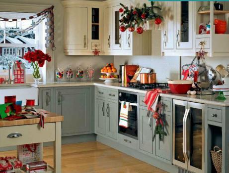 Como decorar una cocina en navidad en 2016 for Imagenes de decoracion de cocinas
