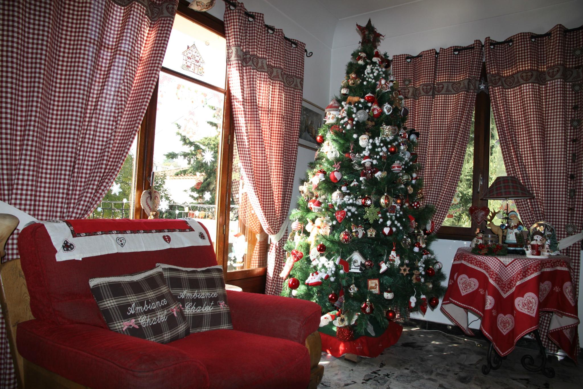 decoracion navidad cortinas