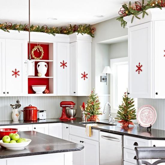 Como decorar una cocina en navidad en 2016 for Como decorar una cocina