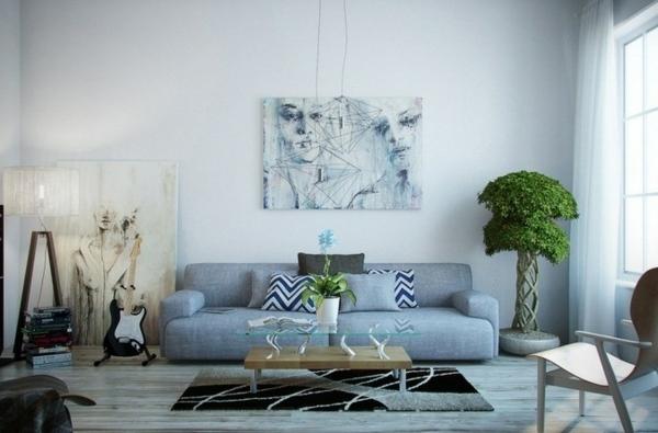 decoracion salon pocos muebles