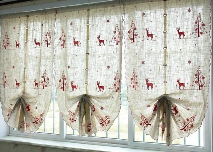 decorar cortinas en navidad