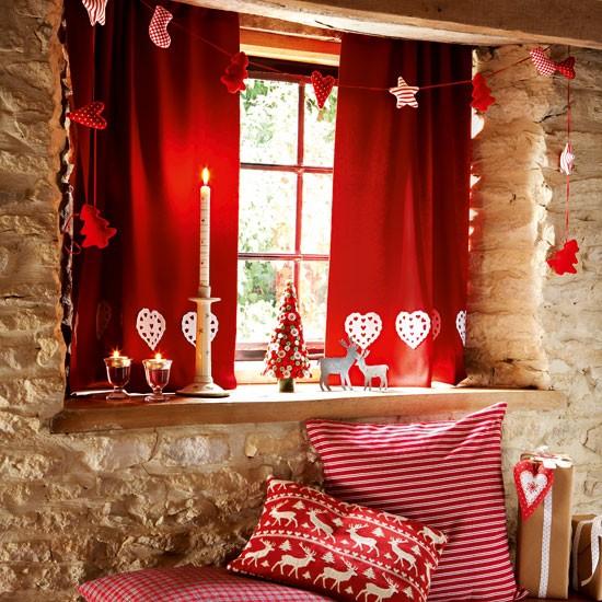 decorar ventanas en navidad