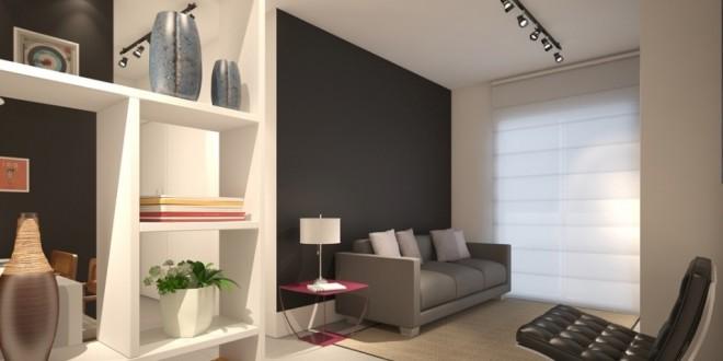 Espacios peque os paredes pintura negra hoy lowcost - Pinturas para salones pequenos ...