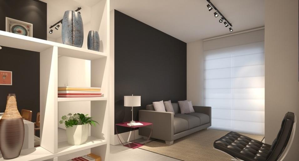salones pequeños con paredes en negro