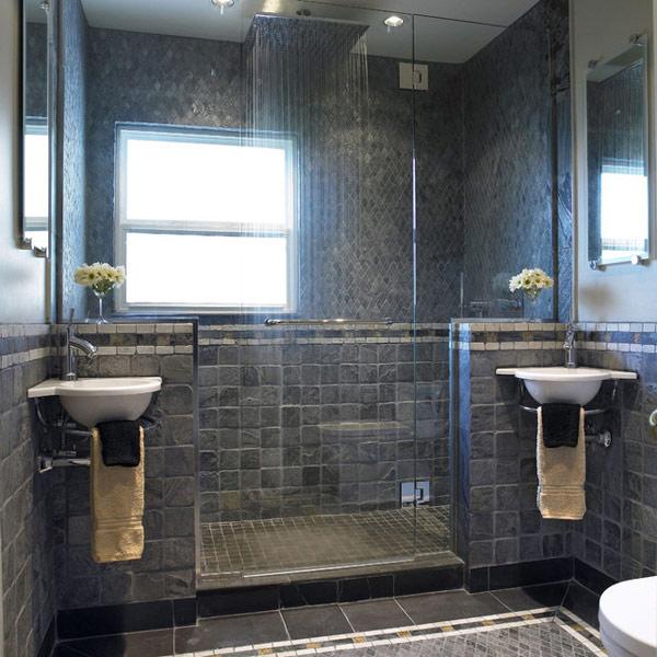 Baño Rustico De Obra:Cuartos de baños modernos con materiales naturales Baños