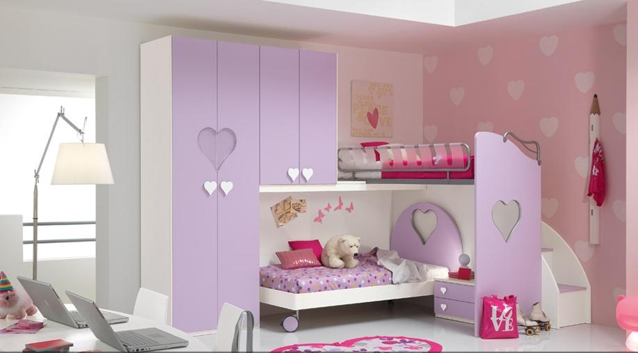 habitacion infantil con literas niña