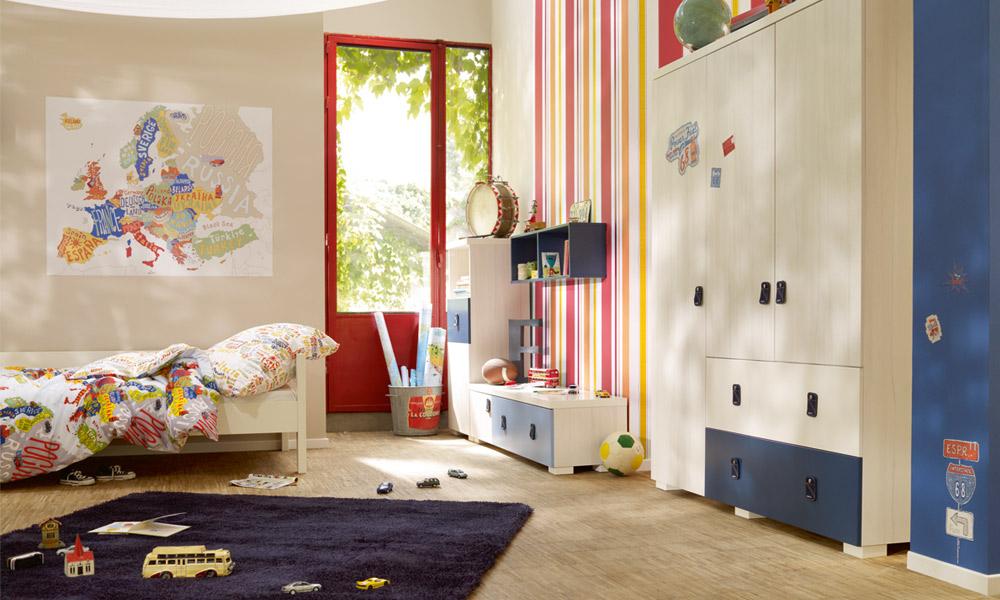 habitacion infantil con zona de juegos