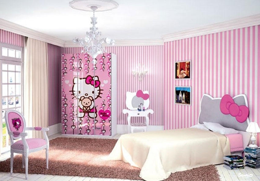 habitacion infantil nia hello kitty