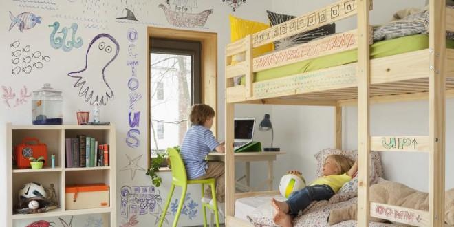 Habitacion infantil paredes hoy lowcost for Paredes habitacion infantil