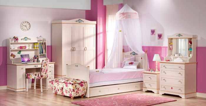 Decorar habitacion infantil nia habitacin infantil para - Habitacion infantil rosa ...