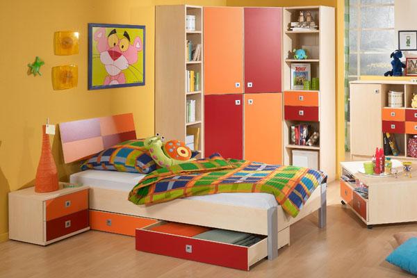 habitaciones infantiles con almacenaje