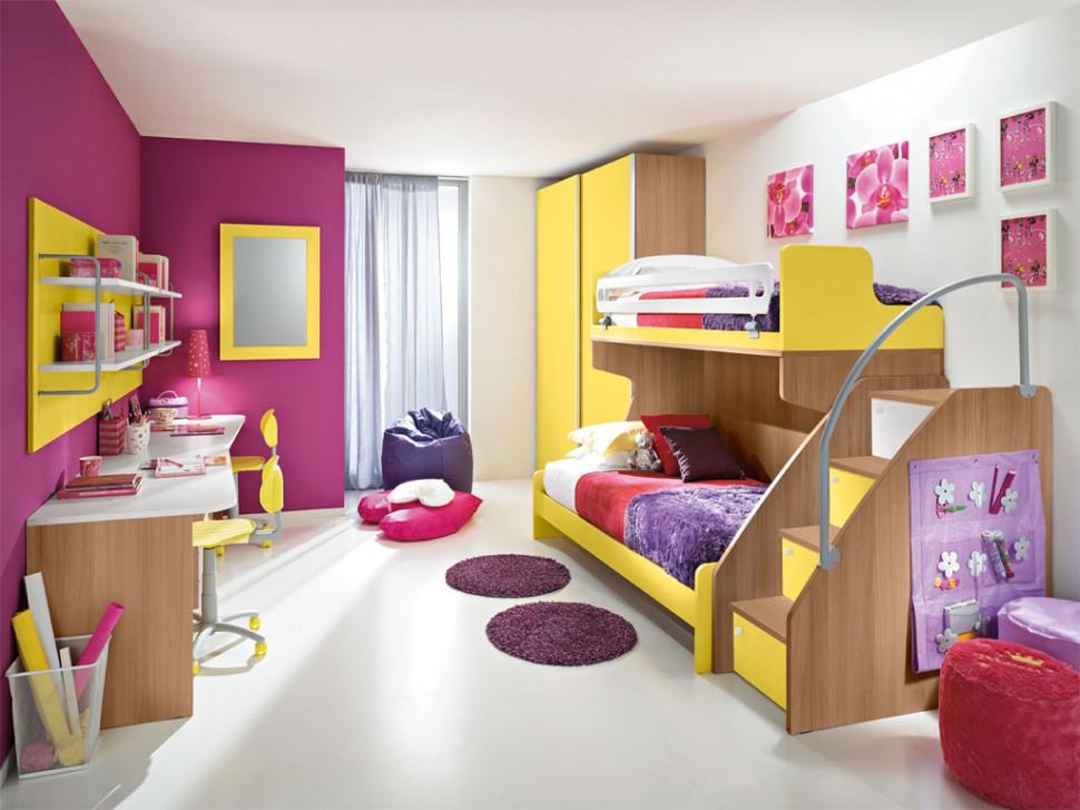 DECORACION DORMITORIOS INFANTILES  Habitaciones-infantiles-dobles-decoracion