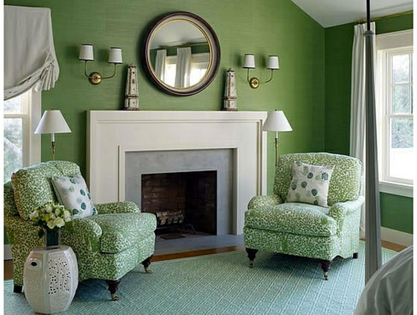 idea rincon colores verde, gris y blanco