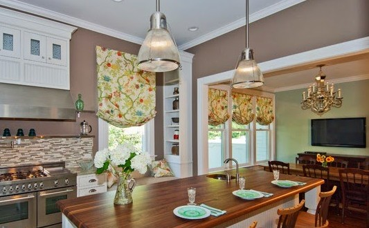 Cómo elegir las cortinas de cocina 2018