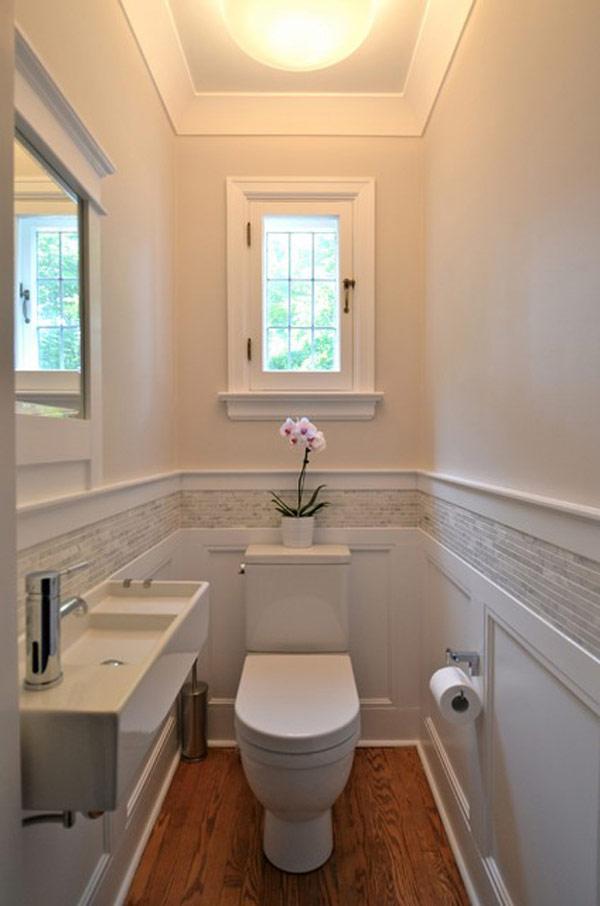 cuartos de baño estrechos