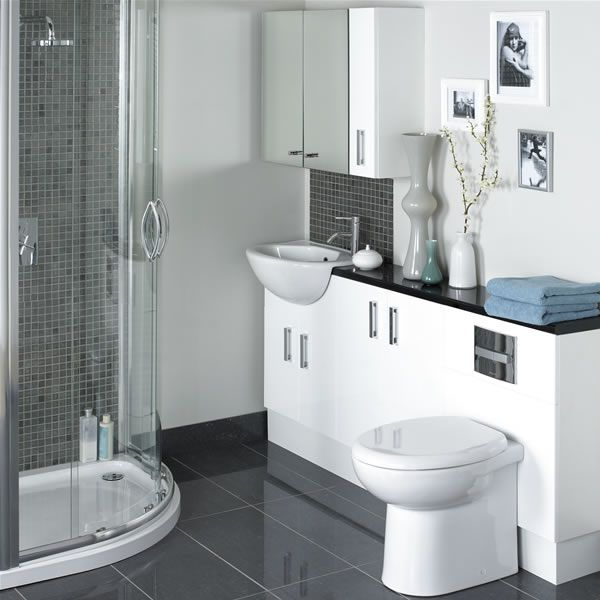 7 ideas para decorar cuartos de ba o modernos hoy lowcost for Tiny ensuite designs