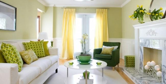 Salones peque os colores combinados hoy lowcost - Colores relajantes para salones ...
