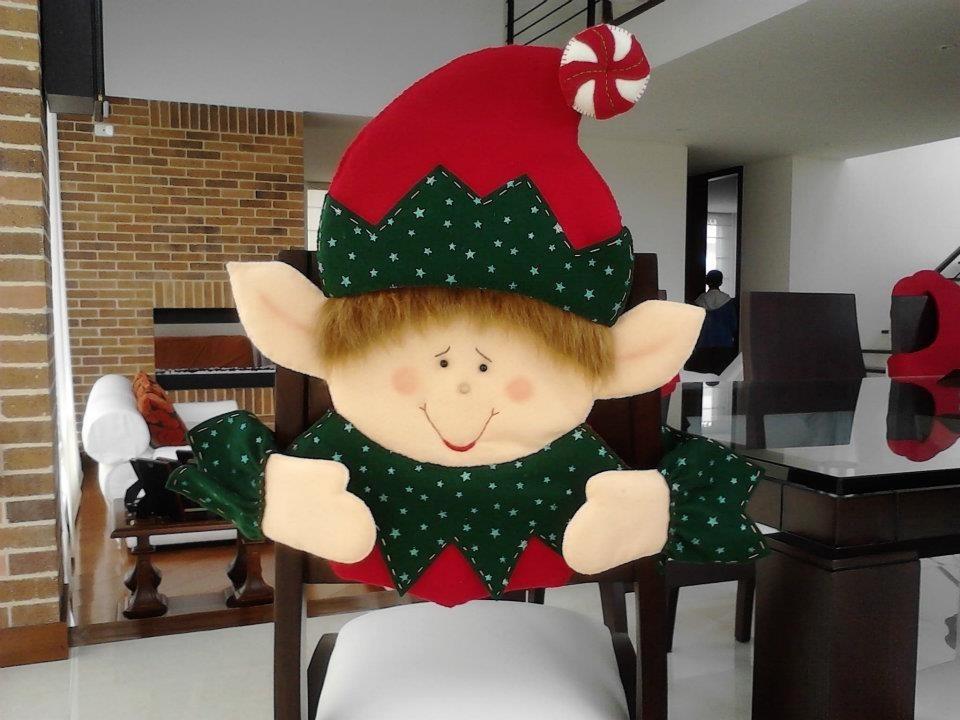 adornos navidad sillas