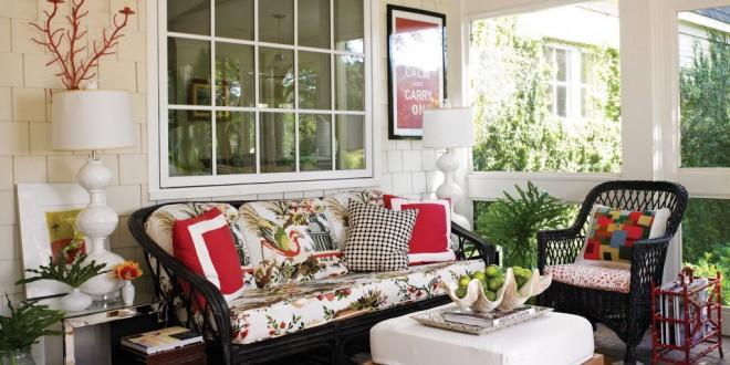 Sala de estar en terraza o porche hoy lowcost for Salas de terraza
