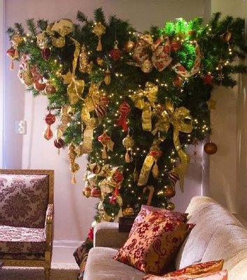arbol de navidad al reves