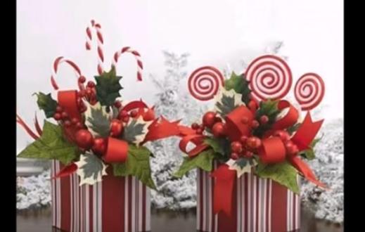 Adornos de navidad hechos a mano centros de mesa - Adornos para la mesa de navidad ...