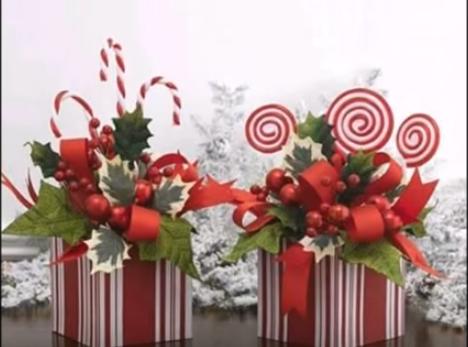 2016 adornos de navidad hechos a mano centros de mesa - Centros de mesa navidenos faciles ...