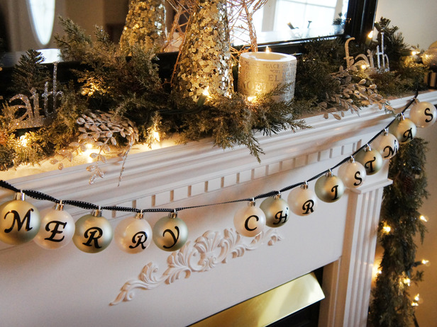 decoracion chimenea en navidad