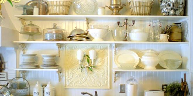 Decoracion de cocinas con baldas y estanterias abiertas - Baldas y estanterias ...