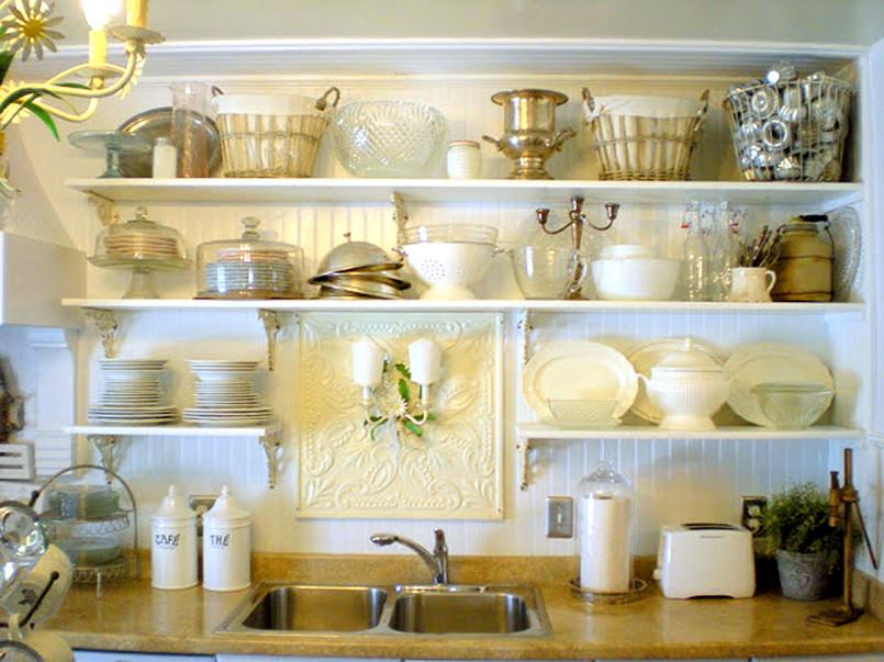 Decoracion de cocinas con baldas y estanterias abiertas for Decoracion de estanterias