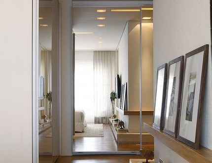 Decoracion de pasillo con cuadros y plantas hoy lowcost - Cortinas para pasillos ...