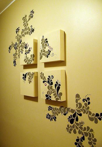 decoracion de pasillos con vinilos