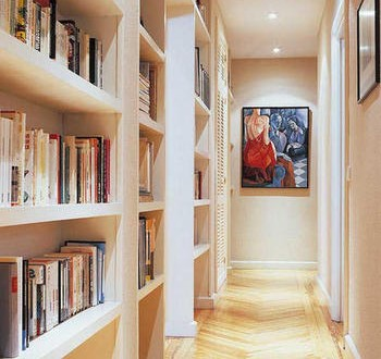 Decoracion pasillos baldas biblioteca hoy lowcost - Baldas de escayola ...