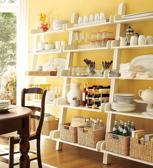 decorar con estanterias abiertas en espacios pequeos