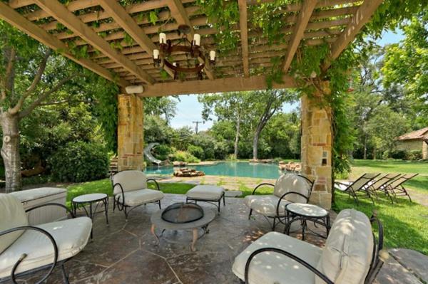 diseño muebles jardin de forja