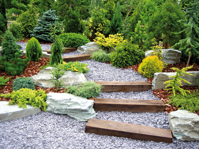 diseño piedras de jardin