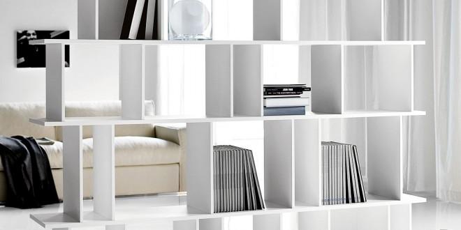 Estanterias como separadores de ambientes hoy lowcost - Muebles separadores de espacios ...