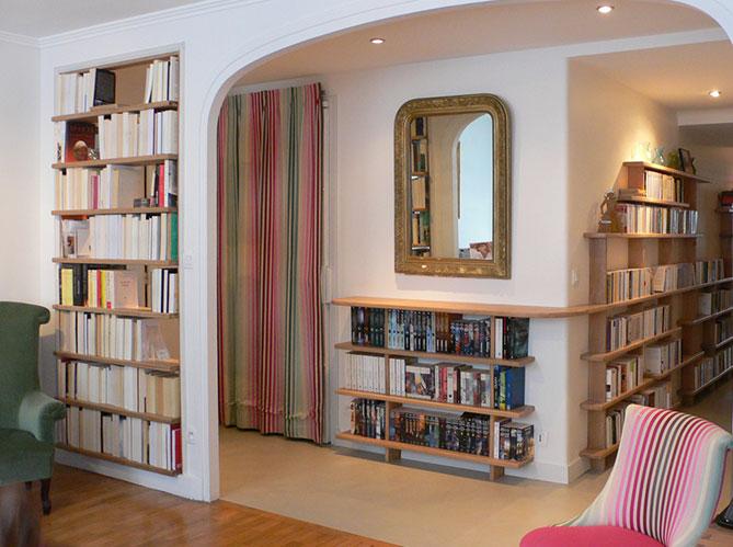 estanterias libros recibidor y pasillo