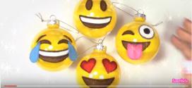 Adornos de navidad hechos a mano: Bolas Navidad Emoji