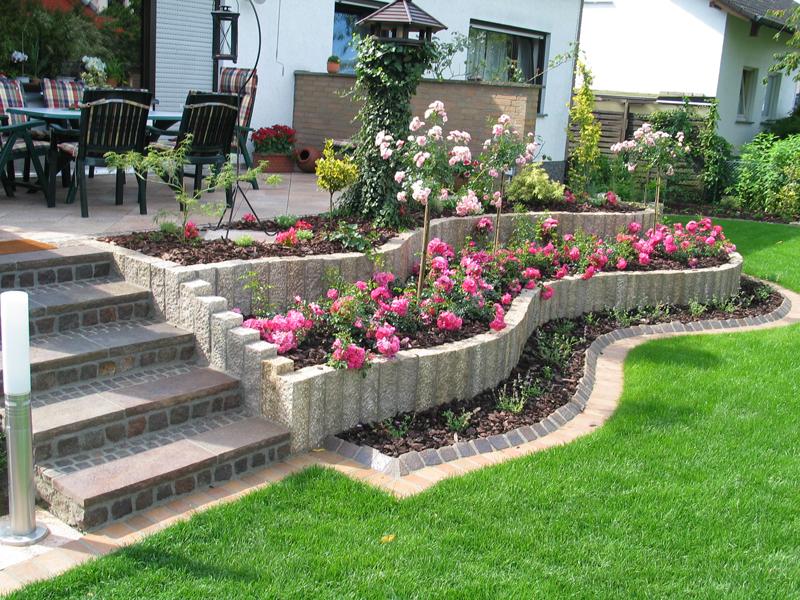 jardines diseño con flores