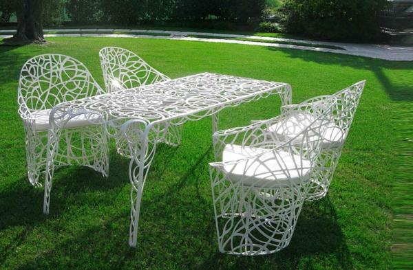 mesa y sillas forja diseño
