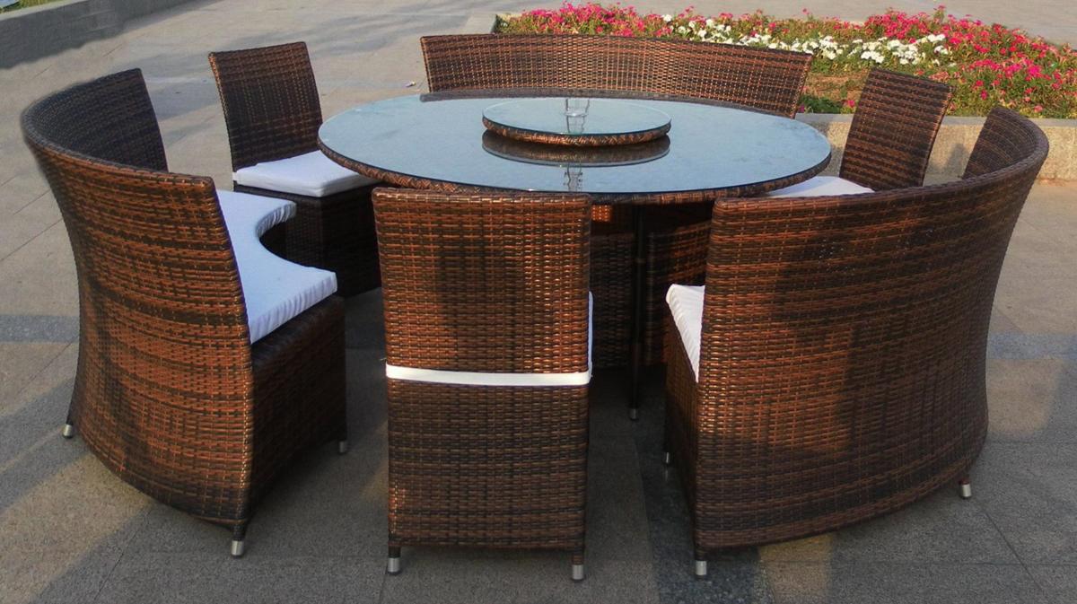 mesa y sillas jardin estilo lounge