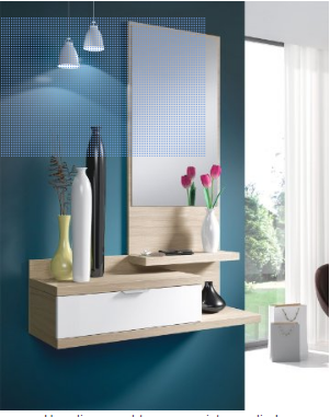Muebles de recibidor y pasillo pr cticos y modernos hoy for Conforama espejos de pared