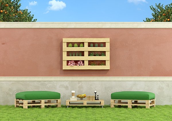 Muebles jardin con palets hoy lowcost for Hacer muebles de jardin con palets