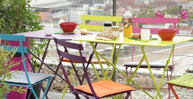 Sillas y mesa jardin aluminio colores hoy lowcost for Mesa jardin aluminio