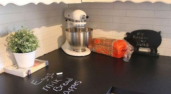 Cocina con encimera de pizarra hoy lowcost - Encimera de pizarra ...