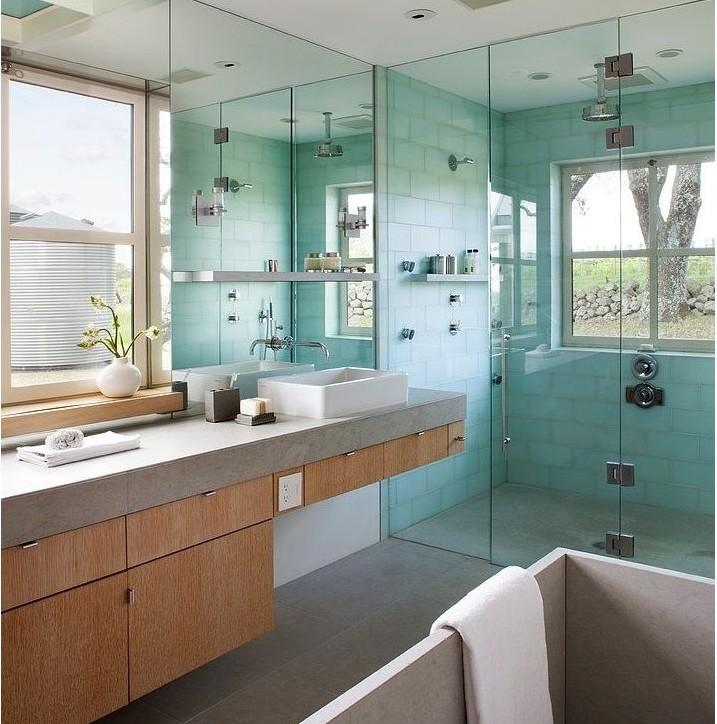 Ideas Para Decorar El Baño Con Poco Dinero:Diseño baños con vistas