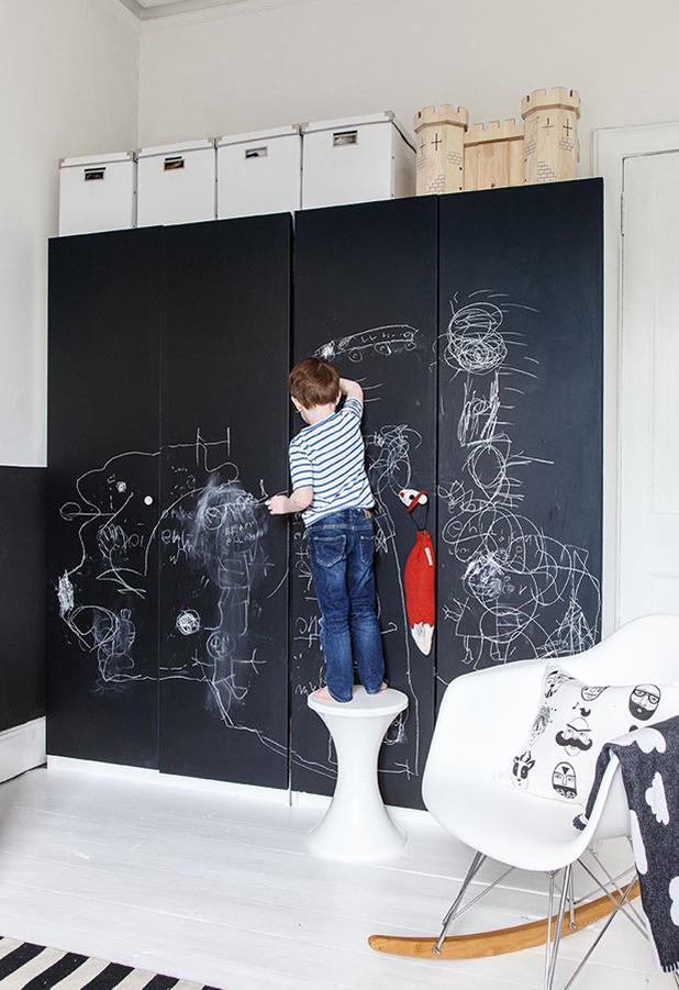 armarios con pintura de pizarra