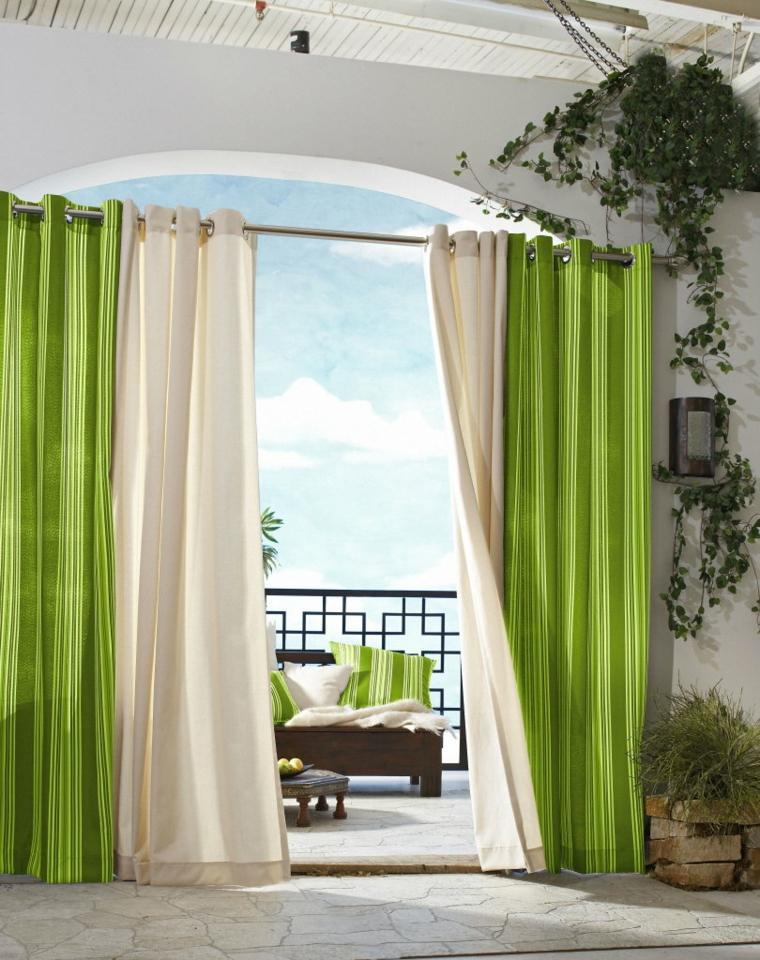 cojines y cortinas combinados decoracion
